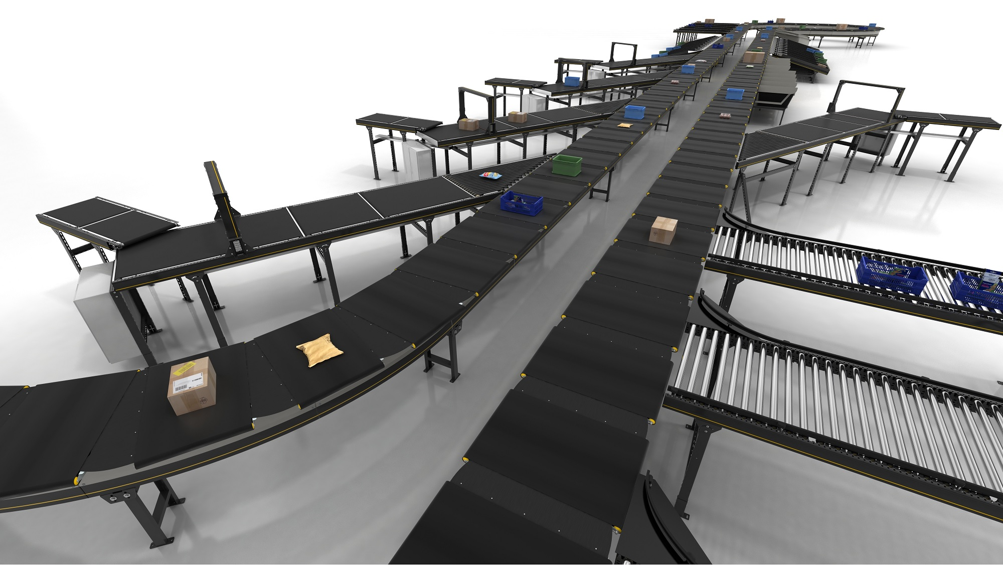 Interroll presents High-Performance Crossbelt Sorter